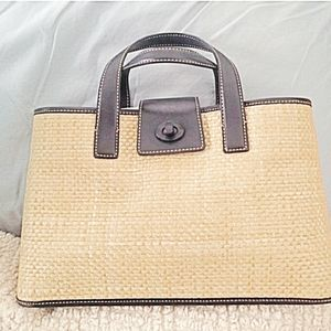 Coach Limited Edition Straw Tote